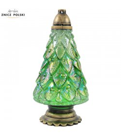 CHT4 - large Christmas tree grave light, candle with exchangeable refill